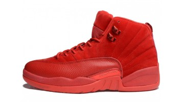 Кроссовки мужские Nike Air Jordan 12 Red Suede Varsity