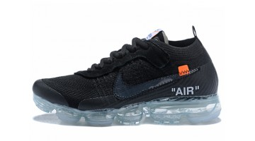 Кроссовки Мужские Nike VaporMax Off White Black Total Clear