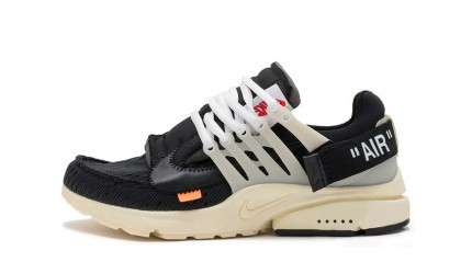 Nike Air Presto Off White x Black Muslin