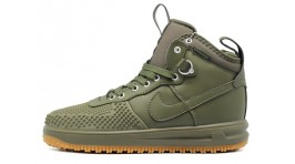 Nike Lunar Force 1 DUCKBOOT Cargo Khaki Olive Medium зеленые кожаные