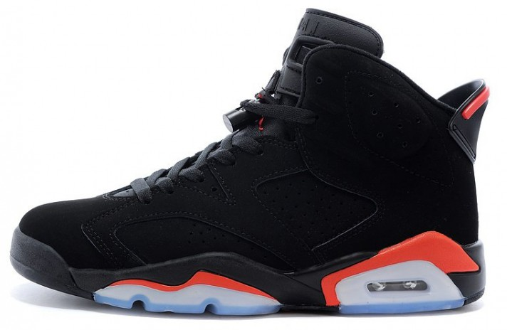 Купить Nike Air Jordan 6 (VI) Infrared Black - черные 98c61559f56