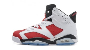 Кроссовки мужские Nike Air Jordan 6 White Carmine Red