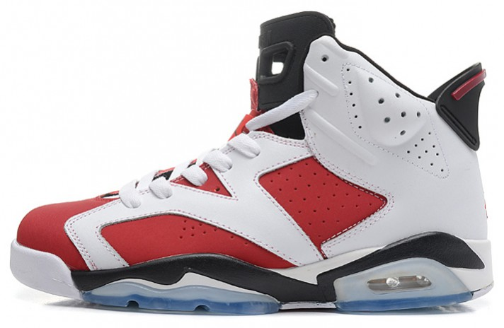 Купить Nike Air Jordan 6 (VI) White Carmine Red - белые 5ba455e1770