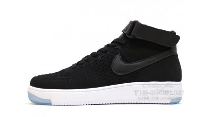 Air Force КРОССОВКИ МУЖСКИЕ<br/> NIKE AIR FORCE MID FLYKNIT BLACK FULL
