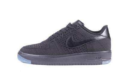 Nike Air Force 1 Low Flyknit Black Full