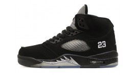 Nike Air Jordan 5 (V) Black Metallic черные