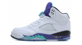 Nike Air Jordan 5 (V) Grape White белые кожаные