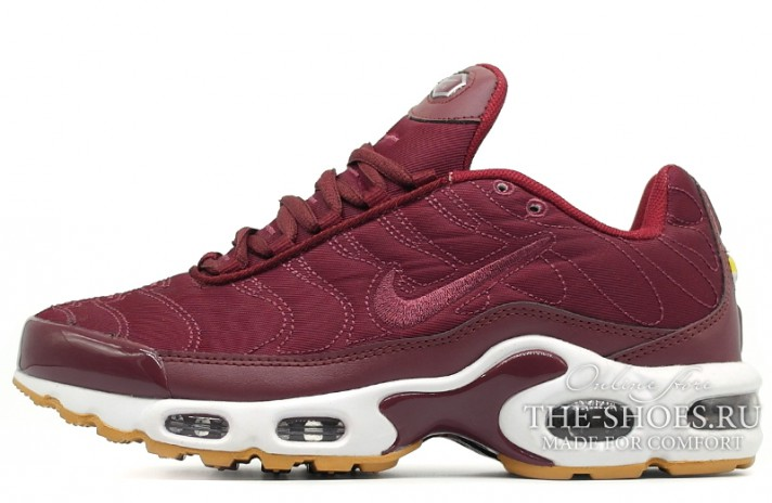 Nike Air Max TN Plus Satin Pack Night Maroon Noble Red бордовые, фото 1