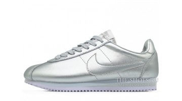 Кроссовки женские Nike Cortez Metallic Silver Summit Leather
