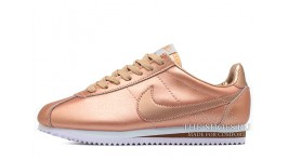 Nike Cortez Metallic Red Bronze Leather бронзовые кожаные