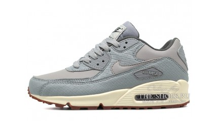 Air Max 90 КРОССОВКИ ЖЕНСКИЕ<br/> NIKE AIR MAX 90 WOLF GRAY GLAZE SAIL LEATHER