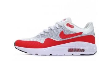 Кроссовки Мужские Nike Air Max 87 Ultra Flyknit White Red