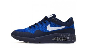 Кроссовки Мужские Nike Air Max 87 Ultra Flyknit Dark Blue Racer