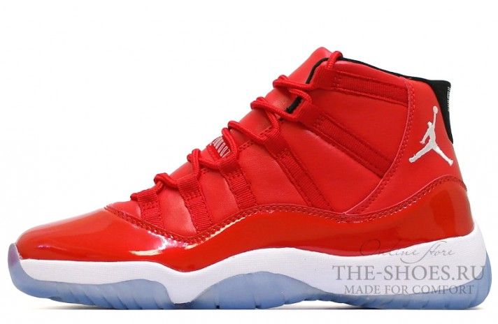 Кроссовки Nike Air Jordan 11 (XI) High Red Gym Chicago