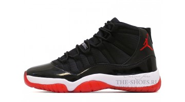 Кроссовки мужские Nike Air Jordan 11 High Bred Black Red