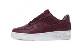 Nike Air Force 1 Low Maroon Night Leather бордовые кожаные