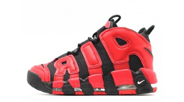 Кроссовки Мужские Nike Air More Uptempo 96 Infrared Red Black