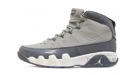 Nike Air Jordan 9 (IX) Cool Grey серые кожаные