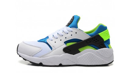 Huarache КРОССОВКИ МУЖСКИЕ<br/> NIKE AIR HUARACHE SCREAM GREEN WHITE