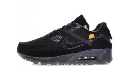 Air Max 90 КРОССОВКИ МУЖСКИЕ<br/> NIKE AIR MAX 90 OFF WHITE ALL BLACK