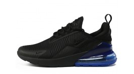 Nike Air Max 270 Black Photo Blue черные