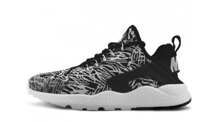 Huarache КРОССОВКИ МУЖСКИЕ<br/> NIKE AIR HUARACHE ULTRA JACQUARD BLACK WHITE