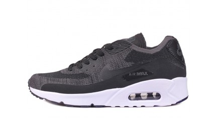Air Max 90 КРОССОВКИ МУЖСКИЕ<br/> NIKE AIR MAX 90 ULTRA 2.0 FLYKNIT BLACK GRAY