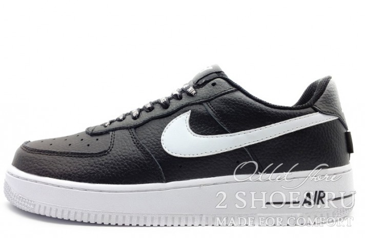 Nike Air Force 1 Low LV8 NBA Pack Black черные кожаные