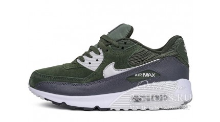 Air Max 90 КРОССОВКИ ЖЕНСКИЕ<br/> NIKE AIR MAX 90 LTHR CARBON GREEN