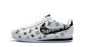 Кроссовки Мужские Nike Cortez Supreme Louis Vuitton White Black