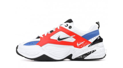 Nike M2K Tekno Summit White Team Orange Black