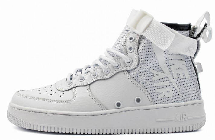 5b9948677a8a Nike Air Force Special Field SF 1 Mid White Ivory Triple белые кожаные