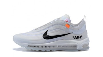 Кроссовки Мужские Nike Air Max 97 Off White Cone Ice White