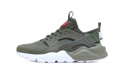 Huarache КРОССОВКИ МУЖСКИЕ<br/> NIKE AIR HUARACHE ULTRA BRED GREEN RED WHITE