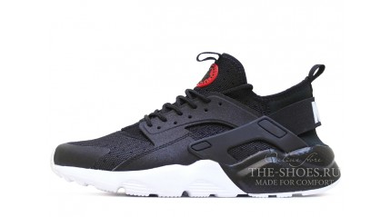 Huarache КРОССОВКИ МУЖСКИЕ<br/> NIKE AIR HUARACHE ULTRA BRED BLACK RED WHITE