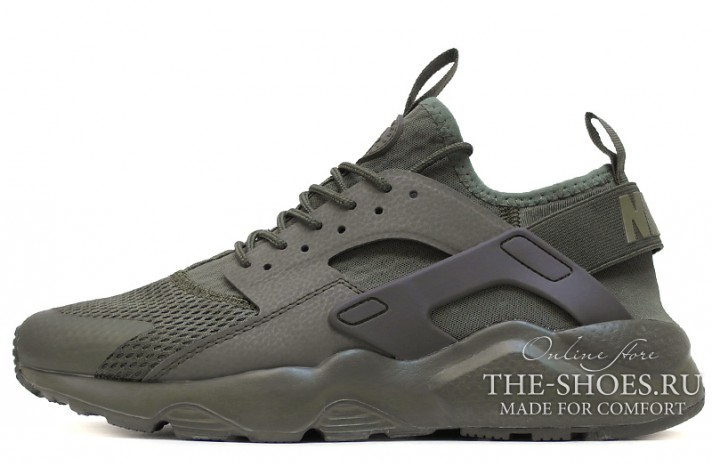 Кроссовки Nike Air Huarache Ultra Green Medium Olive