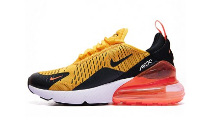 Air Max 270 КРОССОВКИ МУЖСКИЕ<br/> NIKE AIR MAX 270 TIGER ORANGE UNIVERSITY GOLD