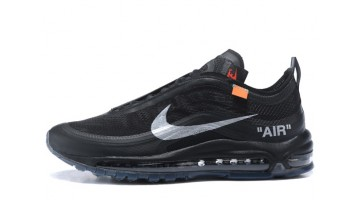 Кроссовки Мужские Nike Air Max 97 Off White Black Noir