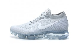 Nike Air VaporMax Flyknit Pure White Platinum белые