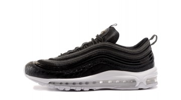 Кроссовки Мужские Nike Air Max 97 Black White Croc Skin