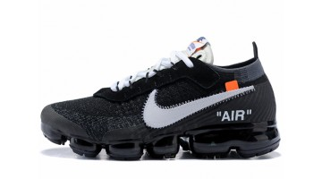 Кроссовки Мужские Nike VaporMax Off White Black White Clear