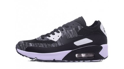 Air Max 90 КРОССОВКИ МУЖСКИЕ<br/> NIKE AIR MAX 90 ULTRA 2.0 FLYKNIT BLACK WHITE