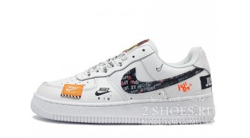 Кроссовки Мужские Nike Air Force Low Just Do It White
