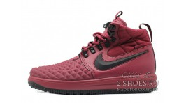Nike Lunar Force 1 DUCKBOOT 17 Mid Winter Bordeaux бордовые кожаные
