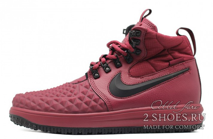 f9490882 Купить Nike Lunar Force 1 DUCKBOOT 17 Mid Winter Bordeaux - бордовые ...