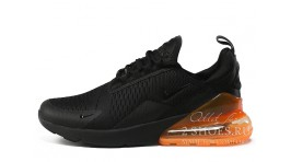 Nike Air Max 270 Black Total Orange черные