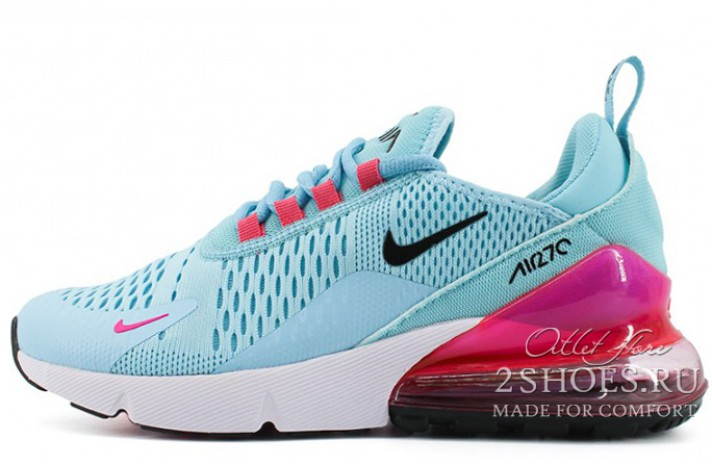 Купить Nike Air Max 270 Light Blue Purple - голубые da94866c779