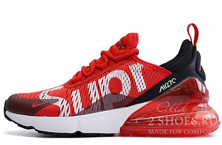 Nike Air Max 270 Supreme Red красные, фото 1