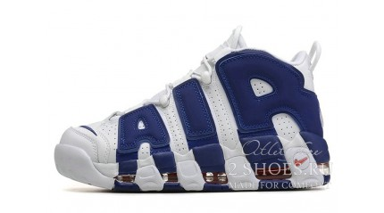 Nike Air More Uptempo 96 White Blue