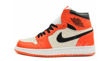 Кроссовки женские Nike Air Jordan 1 Mid Sail Starfish Black